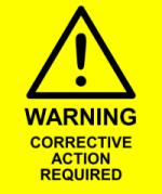 Corrective Action Label